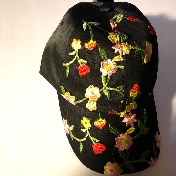 5f533c43b NWT Torrid embroidered floral baseball cap black NWT